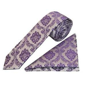 Sonstige Krawatten & Fliegen Effizient Purple Paisley Skinny Men's Tie And Handkerchief Set Slim Tie Thin Tie Wedding Hochwertige Materialien