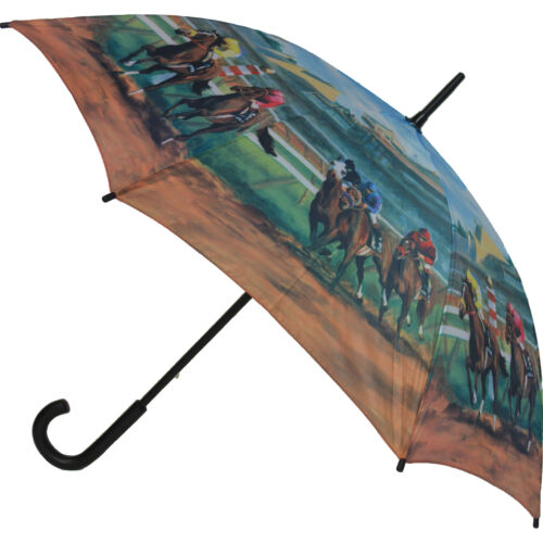 Kentucky Derby Walking Stick Style Umbrella from The Artbrollies Range Soake
