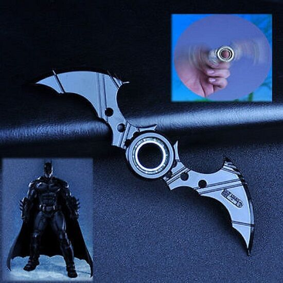 Fidget Finger Batman Batarang Metal Spinner ADHD Autism Anxiety EDC TOYS