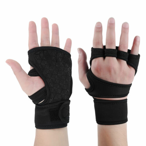 Gym Gloves Weight Lifting Gyms Bodybuilding Fitness Workout Training Wrap UK