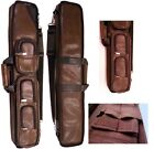 Lucasi LC5 4x8 Brown Leatherette Case - Holds 4 Complete Cues w/4 Xtra Shaft