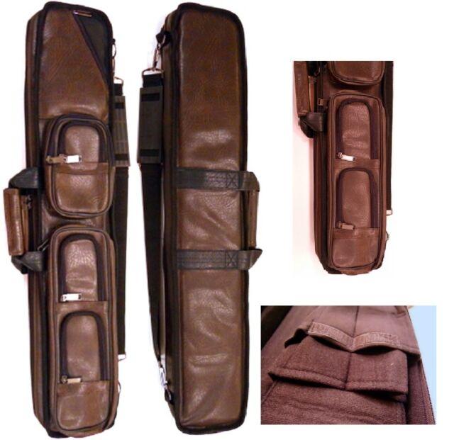 NEW J/&J B48A Black Angora 4x8 Soft Case Holds 4 Complete Cues w//4 Xtra Shaft