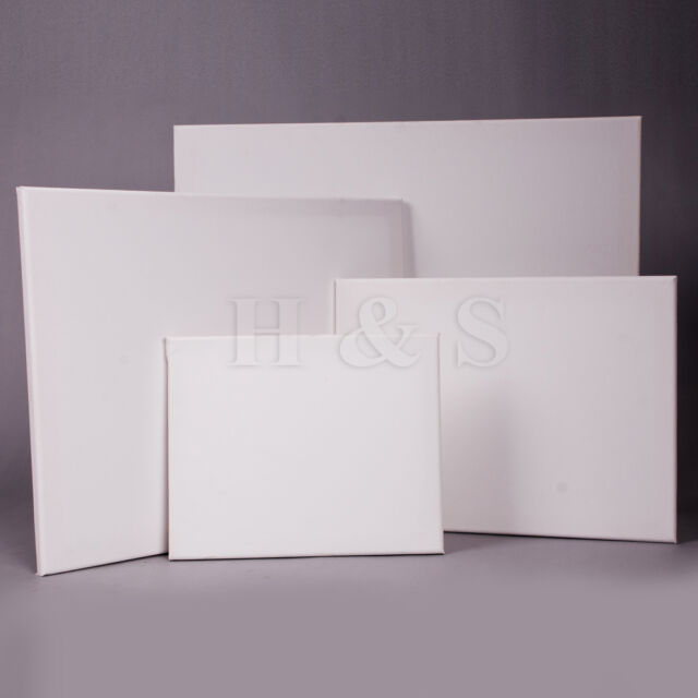High Quality Set of 4 Artist Blank Canvas Frame Acrylic Oil Water Painting Board