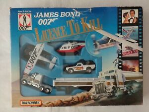 Vintage-Diecast-Matchbox-Gift-Set-James-Bond-007-034-Licence-to-Kill-034-1989-Boxed