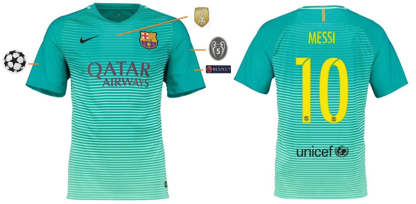 Trikot FC Barcelona 2016-2017 Third UCL - Messi 10  Champions League