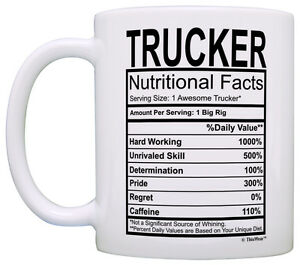 Image is loading Truck-Driver-Gifts-Trucker-Nutritional-Facts-Label-Trucking -