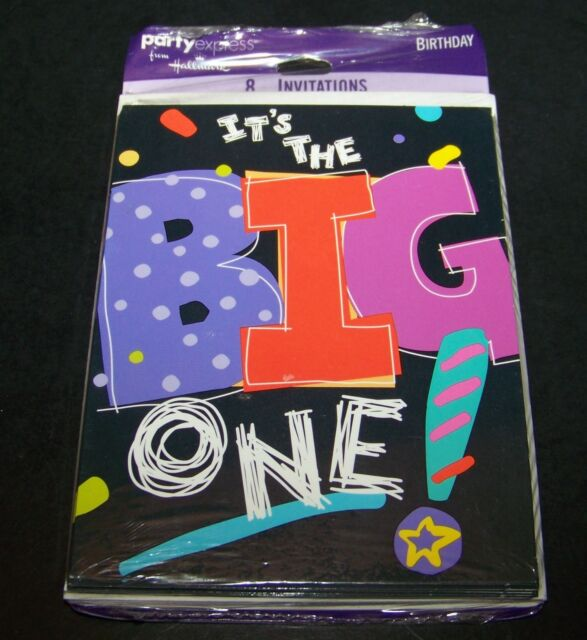 Its The Big One Birthday Party Invitations 30 40 50 60 70 80 90 Years Old