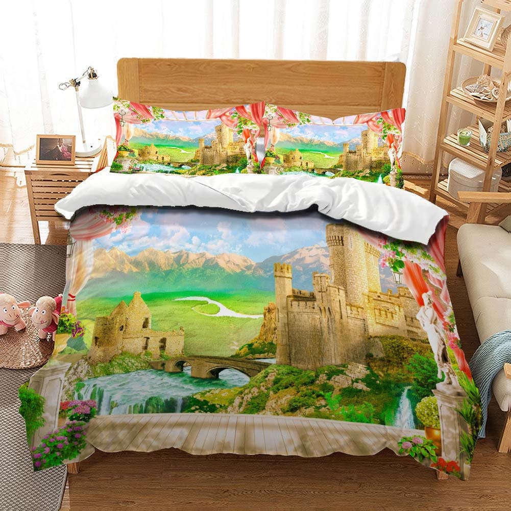 Border Clearance 3D Printing Duvet Quilt Doona Covers Pillow Case Bedding Sets