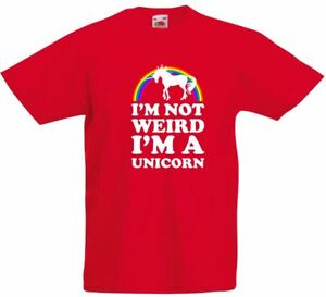 8159bb196a7d01 I'm Not Weird I'm A Unicorn, Kids Printed T-Shirt | eBay