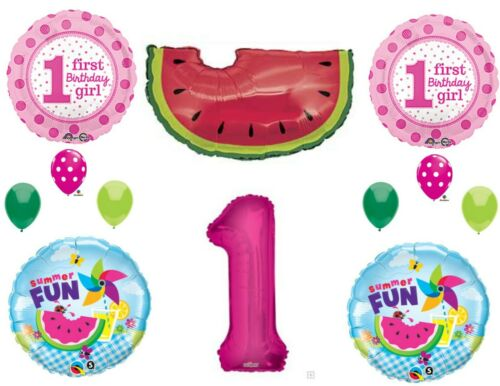 Watermelon First 1st Birthday Party Balloons Decoration Supplies One in a Melon