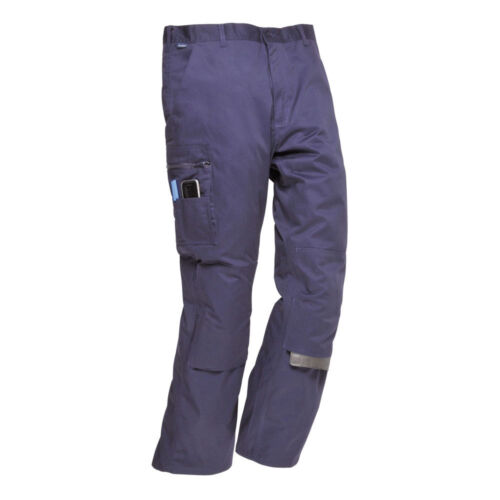"Portwest S891 Bradford Navy  Work Trousers 96cm approx  37//38/""  Waist 31/"" Leg"