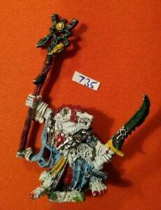 Skaven Grigio Veggente thanquol Caos RATMEN AOS Warhammer Fantasy 1993 mago in metallo