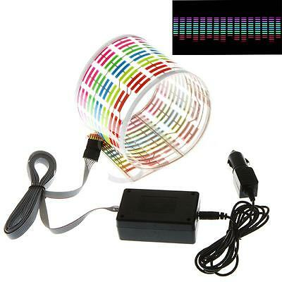 45x11cm Vehicle Car Colorful LED lights Music Rhythm Sticker Sound-activated 12V
