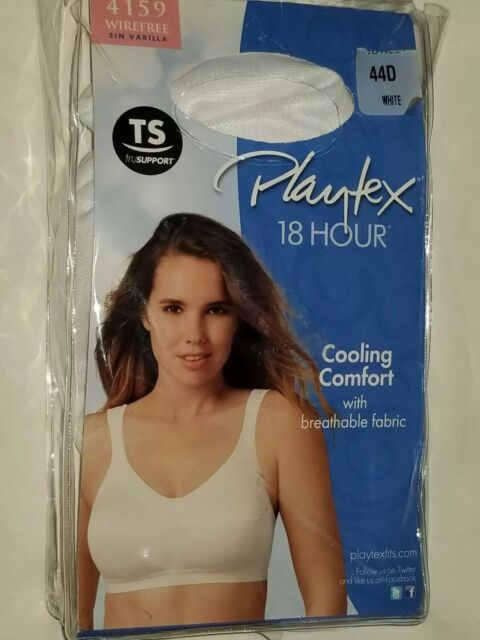 3c8a832785 Bra 44d Playtex 4159 Cooling Comfort White Wirefree 18 Hour Breathable  Fabric for sale online