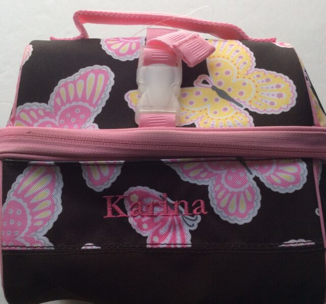 Pottery Barn Kids Retro Lunch Bag New Butterflies Pink