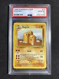 ?Pokemon PSA 10 Base Set Unlimited Non Holo Gem Mint Dugtrio #19