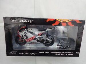 Moto de vélo Minichamps 1/12 Valentino Rossi Yamaha Yzr-m1 Australie Gp 2007