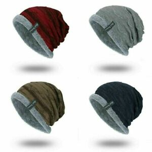 fantastic savings presenting outlet online Soft Cap Striped Men's Winter Slouchy Work Hat Warm Ribbed ...