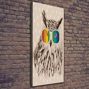 Details Zu Leinwand Bild Kunstdruck Hochformat 50x125 Bilder Eule Brille