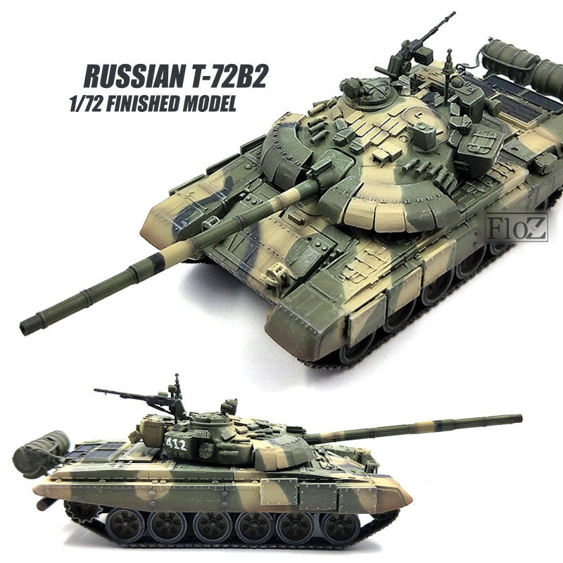 RUSSIAN T-72B2 1 72 tank model finished non diecast MODEL COLLECT