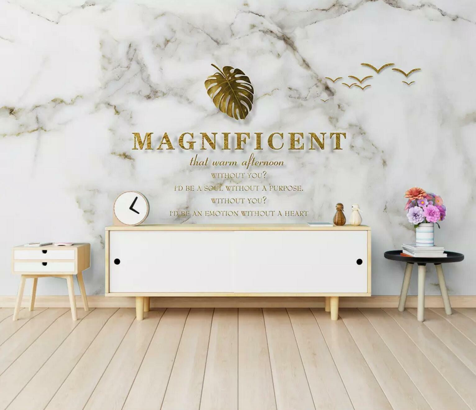 3D Magnificent Leaves 4 Wall Paper Exclusive MXY Wallpaper Mural Decal Indoor AJ
