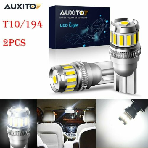 4X T10 194 W5W LED Interior Wedge Map Plate Side Light Lamp Canbus Bulbs White