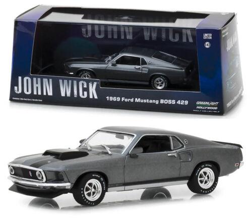 1969 Ford Mustang BOSS 429 John Wick 1:43 GreenLight 86540