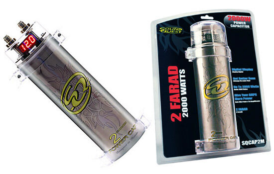 NEW Sound Quest SQCAP2M Digital Power Capacitor 2 0 Farad Up to 2000 Watts  RMS