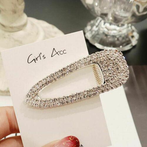Women Girls Pearl Word Slogan Hair Clip Slide Barrette Bridal Crystal Hairclip