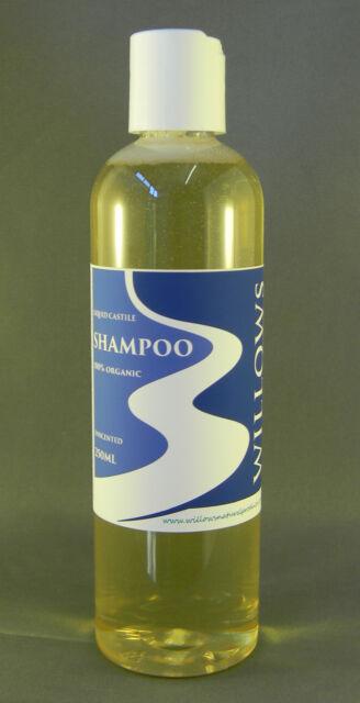 LIQUID CASTILE SOAP SHAMPOO BLEND UNSCENTED 100% ORGANIC 250ML