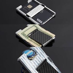 men 39 s wallet carbon fiber billet money clip credit card bottle opener cnc in usa ebay. Black Bedroom Furniture Sets. Home Design Ideas