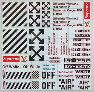 Air max off white vinyl painting stencil for shoes /& small objects *high quality*