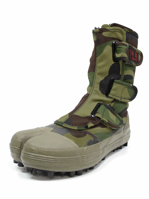 Japanese Camuflaje Split Toe Spike Tabi zapatos botas ASAGIRI I-881 tamaño US6.5 (24.5 Cm)