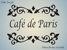 Lg STENCIL Cafe de Paris Shabby Cottage French Fleur Chic Fancy Scroll Border