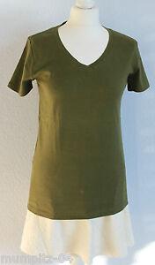Eddie-Bauer-T-Shirt-Shirt-mit-V-Ausschnitt-oliv-NEU-Gr-38-M