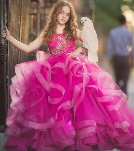 Wedding Flower Girl Dress Pageant Bridesmaid NEW Communion Party Prom Princess