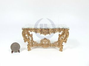 Miniature Wooden 1:12 Scale Louis XV Console Table For Dollhouse ...