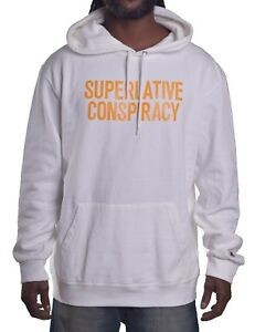 WESC Men/'s SC Off White Pull Over Hoodie Size Large