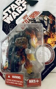 STAR WARS 30TH ANNIVERSARY COIN HASBRO FIGURE PACK IN SUPER BATTLE DROID