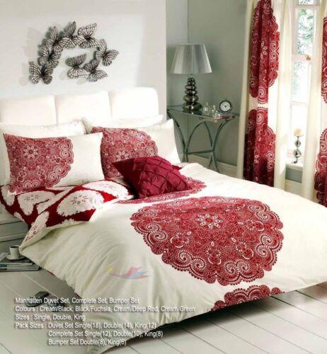 feuilles 8pcs Pare-Chocs Housse de couette lot avec housse de couette taie d/'oreiller lit set rideaux