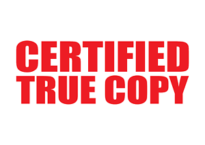 Image Is Loading CERTIFIED TRUE COPY Rubber Stamp Self Inking Office