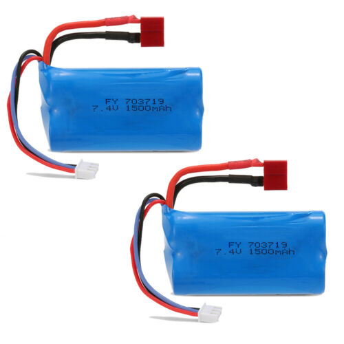 2pcs 7.4V 1500mAh RC Akku Batterie T-Stecker für FEIYUE WLtoys 12428 Auto D9O6