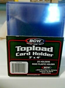 Details About Bcw Toploader 3x4 Sports Card Holders Clear Rigid Choose Quantity Free Ship