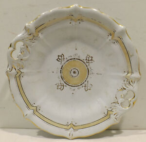 Antique-Fruit-Bowl-Plate-With-Gold-Uninstall-Kor-Wachtersbach-Dm-10in