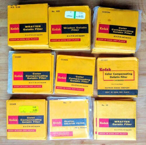 square 7.6cm Kodak Wratten Gel Filter 3in CC50B colour compensating Blue