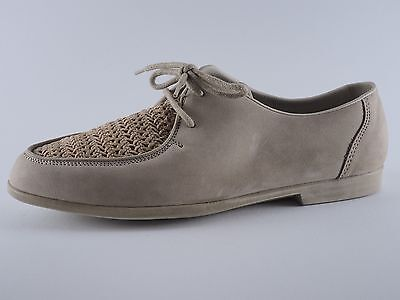 RIEKER Damen Schuhe 37 1/2 Beige Leder Halbschuhe Neu