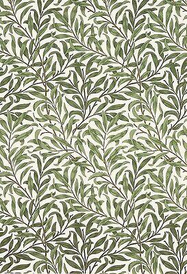 William Morris Vintage Wallpaper Willow Bough Minor Green sold per roll