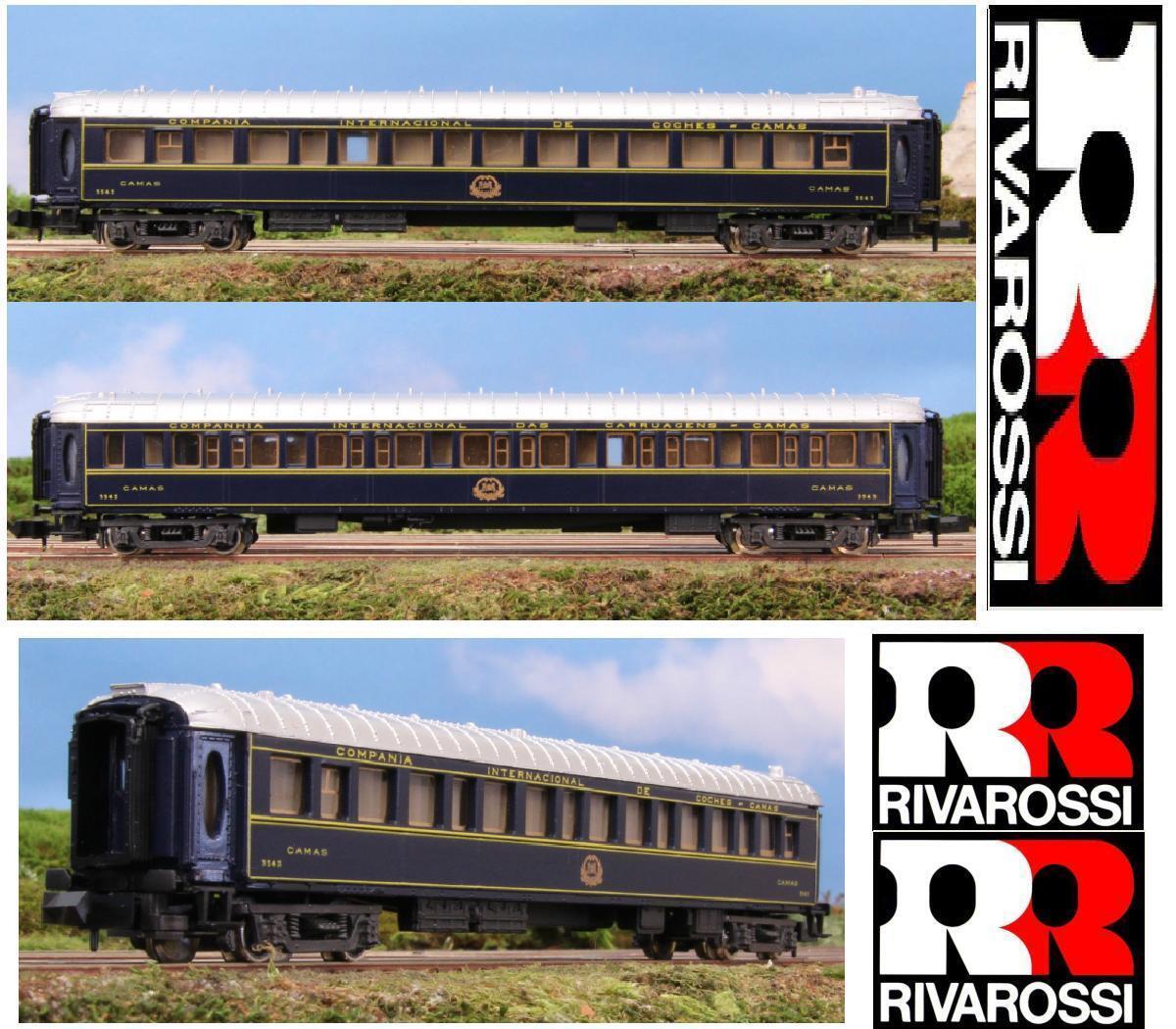 RIVAROSSI 9657 CIWL Vagon CAMAS Waggon Lesen Lx 3543 ORIENT EXPRESS BOX Leiter-n