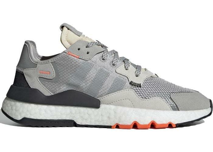 Para Hombre Adidas Nite Jogger gris dos Solar Naranja Multi Sólido gris DB3361
