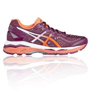 Détails sur Asics Gel Kayano 23 Femmes Violet Support Running Sport Chaussures Baskets